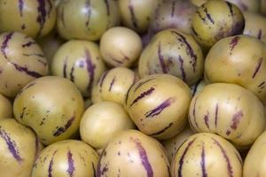 Pepino, cucumber melons, on the market photo