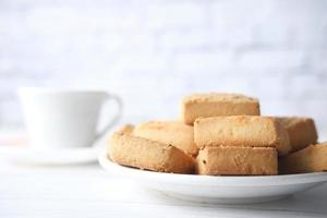 Sweet cookies on wooden table photo