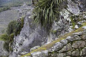 muro de piedra en peru foto