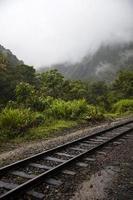 Railroad at Aguas Calientes in Peru