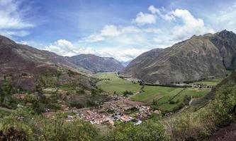 valle sagrado de los incas en perú foto