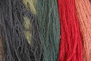 Colorful wool threads