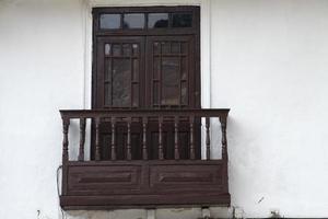 Traditional window from Cusco, Peru photo