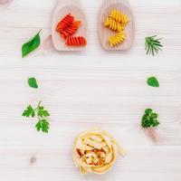 Frame of Italian ingredients photo