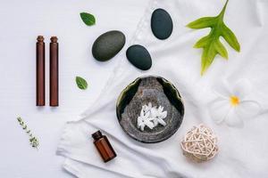 vista superior de la medicina alternativa