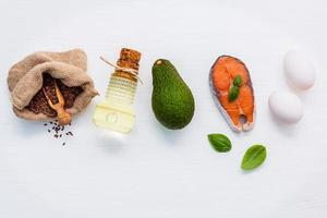 Healthy foods rich in omega 3 photo
