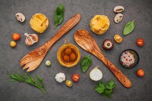 Italian foods top view