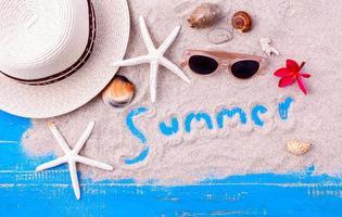 concepto de artículos de verano foto
