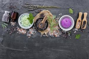 Organic facial ingredients photo