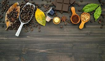 Fresh coffee border photo