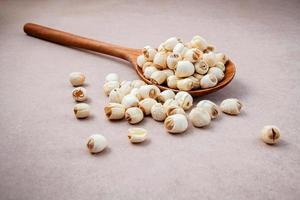 Lotus seeds in a spoon