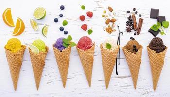 Fresh flavorful ice cream