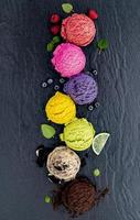 Row of colorful ice cream photo