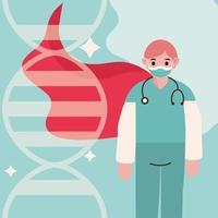 doctor as hero during coronavirus vector