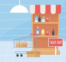 Hoarding concept with sold out items vector