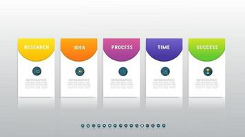 Abstract infographics 5 number options for workflow or presentation. vector
