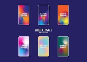 dinámico fondo multicolor brillante. ilustraciones fractal para teléfono inteligente naranja vector