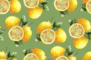 patrón transparente de limón. ilustración vectorial. vector