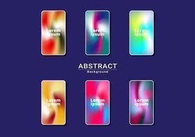 Dynamic bright multicolor background. Fractal artwork for smart phone orange vector