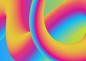 serie de salpicaduras de color. Fondo divertido pintura fractal y rica textura ilustración vectorial vector
