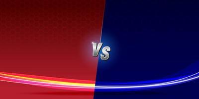 abstract background Versus screen  Fighting red vs dark blue vector