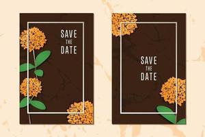concepto floral obteniendo tarjetas textura colección de fondo con marco para mensaje de texto plantilla de diseño vectorial vector
