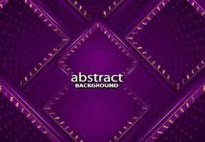 luxury abstract 3d background with violet realistic papercut decoration texture vector