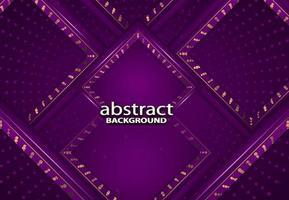 Fondo 3d abstracto de lujo con textura de decoración de papercut realista violeta vector