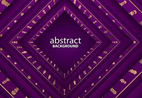 luxury abstract 3d background with purple realistic papercut decoration vector