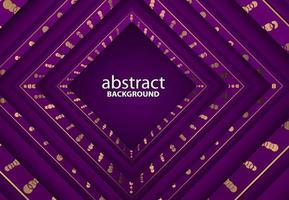 Fondo 3d abstracto de lujo con decoración de corte de papel realista púrpura vector