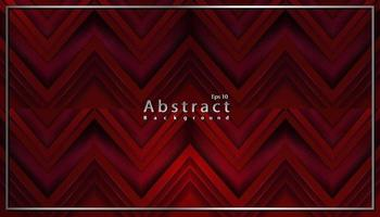 luxury abstract red dark modern background with papercut decoration vector