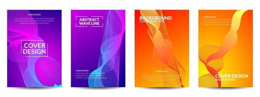 diseño de portada línea ondulada abstracta