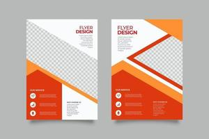Modern orange abstract flyer podcast template vector