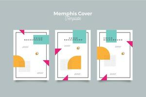 Geometric 90-s style memphis cover collection