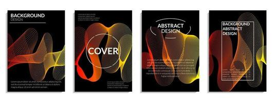 Modern abstract covers set vector