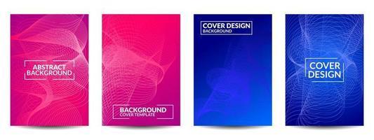 Cover geometric minimal. Set. vector