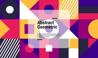 Abstract geometric background pattern vector