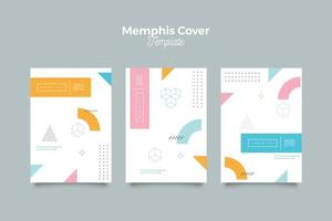 trendy memphis 90's pattern cover