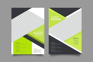 Template abstract lime business flyer vector