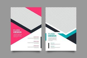 Template colorful abstract business flyer vector