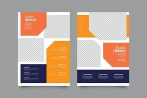 plantilla de impresión de volante corporativo naranja moderno vector