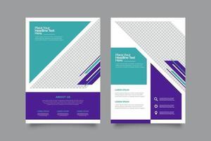 Modern commercial flyer print template vector