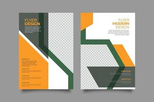 Template marketing abstract business flyer vector