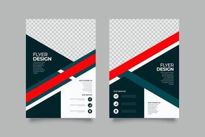 Cool template abstract business flyer vector