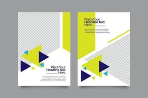 Template geometric abstract business flyer vector