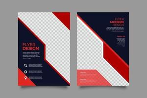 Elegant template abstract business flyer vector