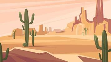 paisaje del desierto de texas vector