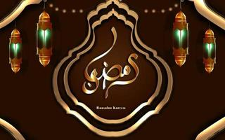 ramadan kareem translation ramadan kareem gold half islamic arabic lantern vector