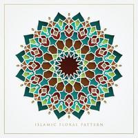 diseño de vector de patrón floral islámico