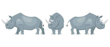 Rhinoceros in different poses.